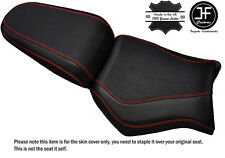 GRIP CARBON BRIGHT RED ST CUSTOM FITS YAMAHA MT 03 06-14 FRONT + REAR SEAT COVER