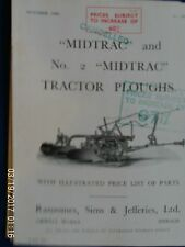 RANSOMES midtrac e NO2 midtrac RIMORCHIO ARATRO INSTRUCTION BOOK 1939