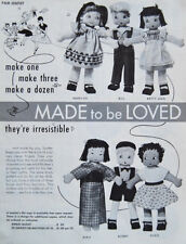 Vintage Made to be Loved - Stuffed Rag Doll Pattern Chinese African American