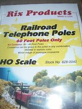RIX Products HO Scale Railroad telephone Poles 40 ft Pole Only #0040 BTTG