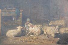 En la esquila, impresionista, para 1900