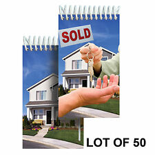 "Spiral Notebook Real Estate House Sale Lenticular 2x4"" LOT OF 50#NBM-971-50#"