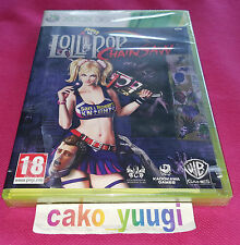 LOLLIPOP CHAINSAW XBOX 360 NEUF VERSION 100% FRANCAISE BLISTER TRES ABIME