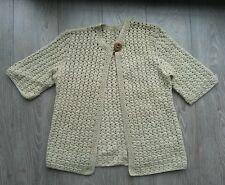 Gilet laine ajouré beige BERSHKA taille S