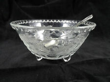 Pressed Glass Grand Sugar Bowl  Bon Bon Dish