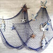 Decorative Nautical Fishing Balloon Net for Home Decoration Netting Blue US