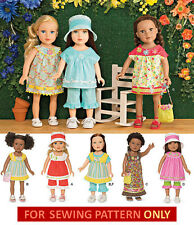 SEWING PATTERN! MAKE DOLL CLOTHES! FIT AMERICAN GIRL DOLL~ SUMMER~KANANI~LEA!