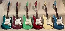 1995, 1996 FENDER STRATOCASTER  W/MATCHING HEADSTOCK COMPLETE COLLECTION OF 6