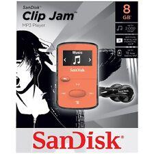 NEW SanDisk Sansa Clip Jam 8GB ORANGE MP3 Player FM Radio Music USB MicroSD Slot