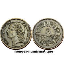 Quatrième République : 5 Francs Lavrillier Bronze alu 1947 RARE TTB
