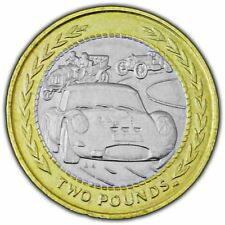Isle of Man 1998 Vintage Rally Car £2 Coin (Circulated)