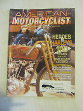 June 2003 American Motorcyclist Magazine, Hero Harleys 100 Years (BD-25)