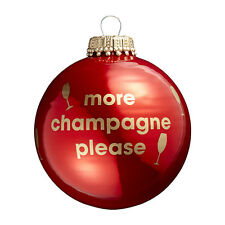 More Champagne Please - Red Christmas Tree Bauble