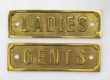 "4"" Solid Brass GENTS & LADIES door signs – WC changing room toilet washroom sign"