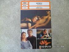 CARTE FICHE CINEMA 2002 INFIDELE Richard Gere Diane Lane Olivier Martinez