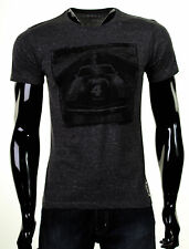 NEW MENS ESPRIT GRAPHIC PRINTED SHORT SLEEVE CHARCOAL MARL T SHIRT TOP MEDIUM