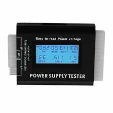 Digital LCD PC Computer PC Power Supply Tester 20/24 Pin SATA HDD Testers F0T