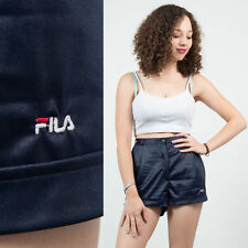 FILA NAVY BLUE VINTAGE TENNIS SHORTS HIGH WAIST CASUAL RETRO WOMENS BADMINTON 12