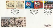 23461 GB FDC Barcelona Olympiques/Chris Columbus City of London 7 Avril 1992