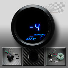"Boost turbo gauge psi led blue 2"" / 52mm universal fit custom car dash pod"
