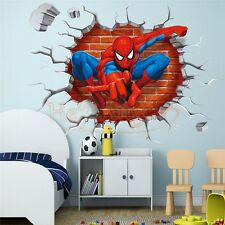 3D Spiderman Wall Sticker Home Decor decal Cartoon Mural Art Wallpaper Waterpoof