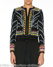EMILIO PUCCI RUNWAY Beaded Tribal Jacket Coat UK10 Ita42 US8 BNWT