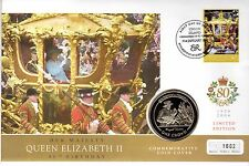 2005 ONE CROWN HM HER MAJESTY THE QUEEN ELIZABETH II 80TH BIRTHDAY GIBRALTAR (a)