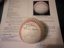 300 Win Signed AL Baseball - JSA - Autographed - 7 Sigs Early Wynn Warren Spahn