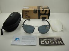 COSTA DEL MAR COCOS POLARIZED SUNGLASSES CC21 OGP PALLADIUM FRAME/GRAY 580P LENS