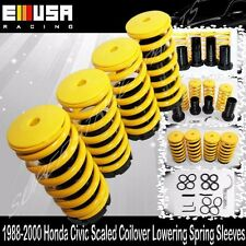 Honda Civic 88-91/92-95/96-00  Coilover Lowering Coil Springs Set YELLOW/BLACK