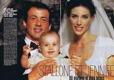 Coupure de presse Clipping 1997 Sylvester Stallone & Jennifer  (6 pages)