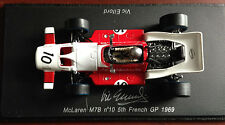 McLaren M7B - French GP 1969 Formula 1 SIGNED by VIC ELFORD Spark 1:43 Diecast
