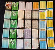 Lot of 35 Vintage Assorted NFL Football Checklist Trading Cards -- 1977-1995