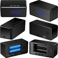 HIDDEN SPY CLOCK VIDEO CAMERA SURVEILLANCE 24 HOUR BATTERY/MAINS NIGHT VISION