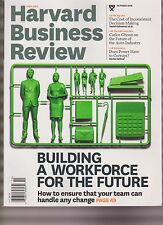 HARVARD BUSINESS REVIEW MAGAZINE OCT 2016, BUILDING A WORKFORCE FOR THE FUTURE.