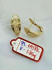 authentic gold earrings 18k Gold saudi,,.