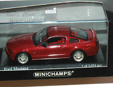 Minichamps Ford Mustang Die Cast Model Car 1:43 2005 Redfire Red 1/3024