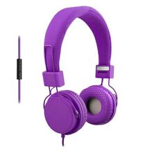 ECO V20 Stereo Headphones w/ In-line Mic - Purple ECO-V20-12244