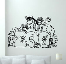 Zoo Animals Wall Decal Nursery Poster Vinyl Sticker Kids Art Decor Mural 12aaa