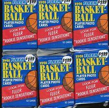 24 PACK LOT 1991-92 FLEER BASKETBALL JUMBO 53 CARDS PER PACK