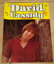THE DAVID CASSIDY MONTHLY MAGAZINE NUMBER 6 ~ NOVEMBER 1972 ~ PARTRIDGE FAMILY
