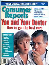 Consumer Reports Magazine February 1995 You And Your Doctor EX No ML 093016jhe