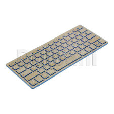 New Wireless Bamboo Keyboard QWERTY Blue Desktop Laptop PC Mac
