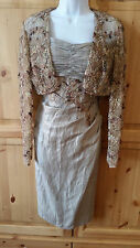 JOHN CHARLES RRP £485 MOTHER OF THE BRIDE JACKET DRESS OUTFIT SIZE 10 FORMAL