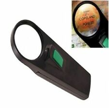 ILLUMINATED MAGNIFIER CLEAR OPTICAL LENS MAP MAGNIFYING GLASS WITH LIGHT TORCH