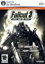 Fallout 3 Game Add-on Pack Broken/Point Pc Ottima Stampa Italiana con manuale