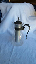 GLASS CARAFE WITH COOLING TUBE - PITCHER STERLING SILIVER TRIM