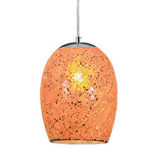 SEARCHLIGHT 1 LIGHT ORANGE CRACKLE GLASS PENDANT CHANDELIER CEILING FITTING NEW
