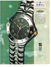 PUBLICITE ADVERTISING   1994    EBEL     COLLECTION   montre SPORTWAVE