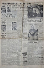 WESTERN MAIL 1 Jan 1958 RUGBY NEWSPAPER EDDIE THOMAS COLLECTION CLIFF MORGAN